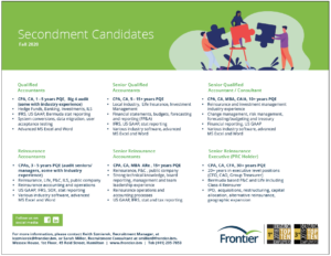 Frontier Candidates - Fall 2020